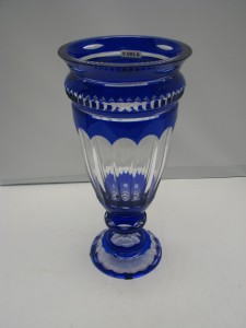 Hand N Blue And White Murano Vase