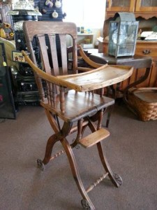 Antique High Chair   in Wickliffe, OH | WICKLIFFE FLOWER BARN