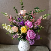 Antique Rose Vase arrangement