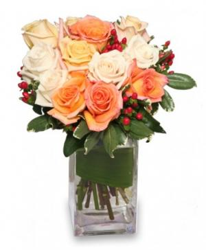ANTIQUE ROSES Arrangement in Bristol, IN | Camille's Floral Shop