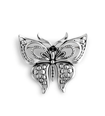 Antique Silver Butterfly Gift Shop