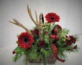 ANTLERS AND BIRCH  FRESH FLOWER ARRANGEMENT