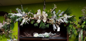 Antlers and Gold Garland  in Milton, FL | PURPLE TULIP FLORIST INC.