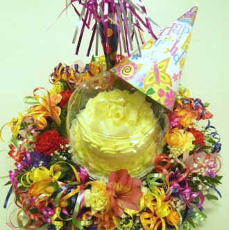 Any Occasion Cake and Flowers