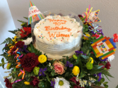 Any Occasion Deluxe Cake & Flowers