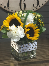 ANY OCCASION SUNFLOWER FRESH IN A CUBE