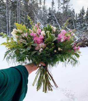Appealing Pinks Wedding Bouquet in Mount Pearl, NL | MOUNT PEARL FLORIST