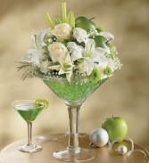 Apple Martini Bouquet  Stir and shake up some flower fun.