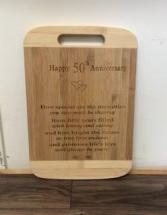 50th anniversary cutting board Personalized engraved gift idea