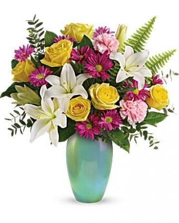 Aqua Artistry flower arrangement