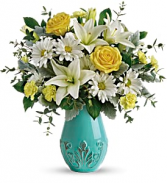 Aqua Dream T19E100A Vase Arrangement FREE BOX OF CHOCOLATES WITH ORDER