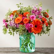 Aqua Escapes Vase Arrangement in Vernon, NJ   HIGHLAND FLOWERS