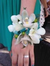 Aqua Wristlet Prom or Wedding