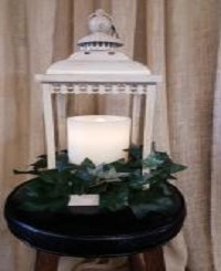 Aquaflame Candle In Lantern  in Ligonier, IN | Countryscapes Floral and Nursery