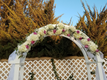 arbor or arch floral topper 6 ft long fresh floral topper