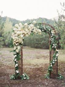 Archway Floral Wedding