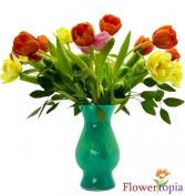 Arco Iris de Tulipanes Bouquet de Tulipanes