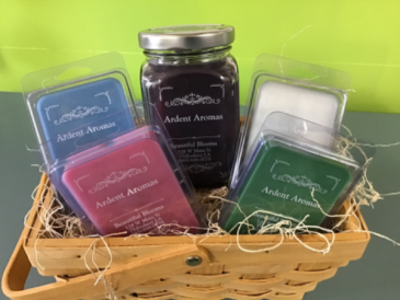 Ardent Aromas Candle and Wax Melts Gift Basket