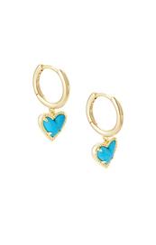 Ari Heart Huggie Earring in Gold
