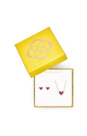 Ari Heart Necklace & Earrings Gift Set