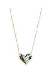 Ari Heart Short Pendant in Gold Necklace