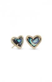 Ari Heart Stud Earring in Gold