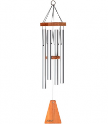 """Aria 27"""" wind chime satin silver Gift"""