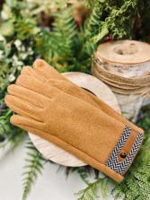 ARIANNA BY HOWARD'S Camel Herringbone Glove