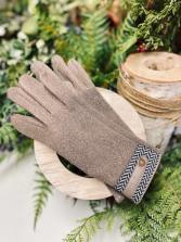 ARIANNA BY HOWARD'S Taupe Herringbone Glove