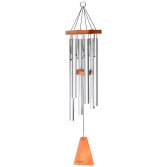 ARIAS 44 INCH WINDCHIME IN SATIN SILVER