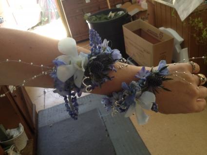 Arm Blue Wristlet Corsages