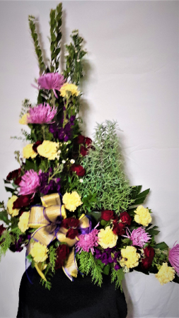 aromatic tree of lavender funeral arrangement