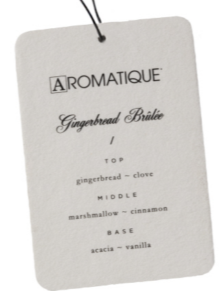 Aromatique Gingerbread Brulee Aroma Card