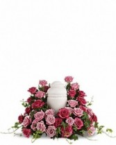 Arrangement for Urn with Roses Funeral Flowers