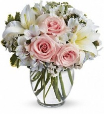 Arrive in style bouquet Rose and lily vase arrangement