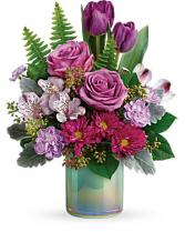 Art Glass Bouquet Vase Arrangement