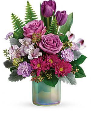 Art Glass Bouquet Vase Arrangement in Ambler, PA | Flowers By Veronica, Inc.