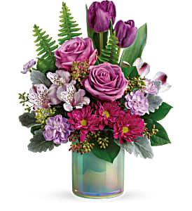 Art Glass Garden Bouquet Teleflora in Springfield, IL | FLOWERS BY MARY LOU INC