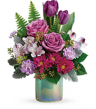 Art Glass Garden Bouquet Vase Arrangement