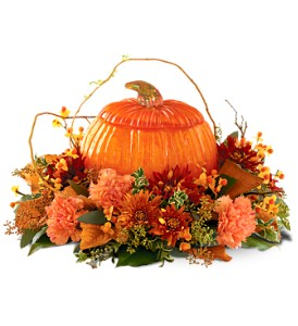Art Glass Pumpkin Centerpiece