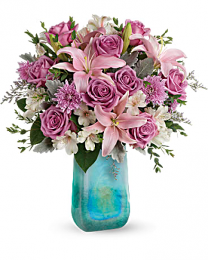 Art Glass Treasure Bouquet Flower Arrangement in Miami, FL | FLOWERTOPIA