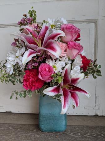 Art Glass Vase Arrangement Fresh Arrangement
