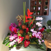 Art Noveau Tropical Centerpiece