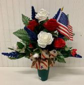 Artificial Cemetery Cone-Patriotic