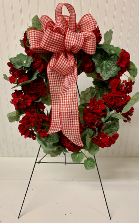 Artificial Cemetery Wreath-Red