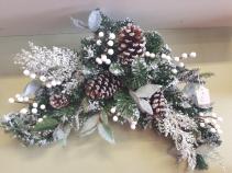 Artificial Christmas Door Swag Actual in Store Photo