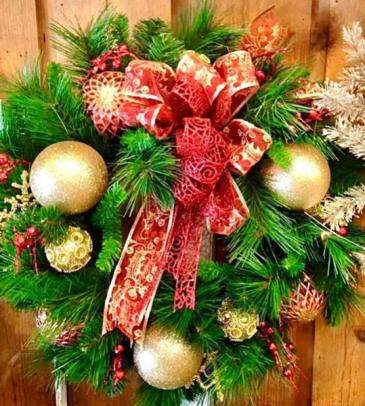 Artificial Christmas Wreath  Silk