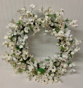 Artificial Dogwood Wreath