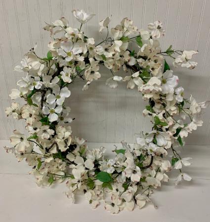 Artificial Dogwood Wreath
