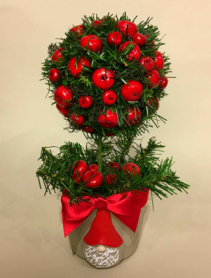 Artificial Garden Gnome Christmas Arrangement